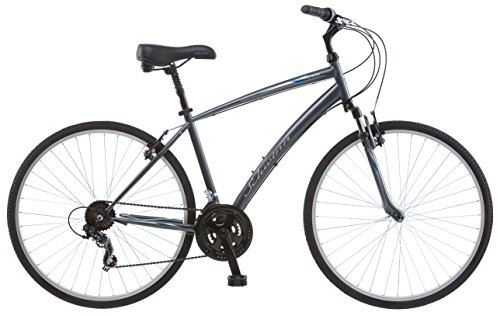Schwinn Network 1.0 700c Men's 18 Hybrid Bike, 18-Inch/Medium, Grey